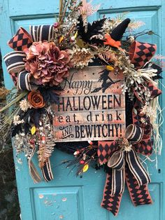 Your place to buy and sell all things handmade Halloween Door Wreaths, Wreaths For Front Door, Halloween Decorations, Wooden Pallet Signs, Pumpkin Picking, Mini Pumpkins, Orange Roses, Burlap Ribbon, Halloween Coloring
