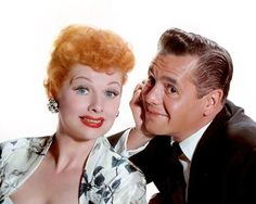 """Lucille Ball and Desi Arnaz publicity photo. 