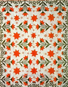 Pieced & Applique Quilt North Carolina Lily Wih Le Moyne Star 1855 New York by SurrendrDorothy, via Flickr