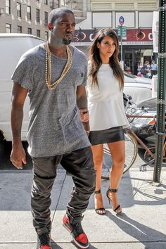 With their family expanding, Kanye West and Kim Kardashian were spotted house shopping in LA yesterday.