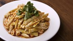 Szechuan Impression: The fresh bamboo shoots are lightly dressed with chile. Los Angeles Food, Bamboo Shoots, Skewers, The Fresh, Pasta Salad, Chile, Restaurants, Scene, Dishes