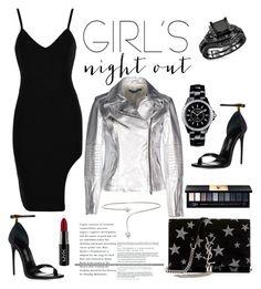 """girl's night out"" by marishkabondareva on Polyvore featuring Chanel, Yves Saint Laurent, Street Leathers, NYX, John Lewis, Yeprem and girlsnight"