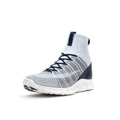 Nike Free Flyknit Mercurial Pure Platinum/Summit White-Dark Grey/Obsidian - 805554-001