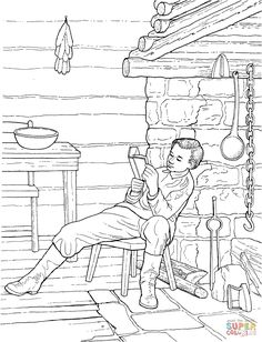 pioneer day for kids coloring pictures pioneers pinterest