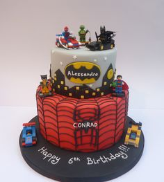 Image result for super hero lego cake