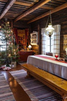 99 Traditional Swedish Home Decor Ideas - Swedish Home Decor, Decor Scandinavian, Swedish House, Br House, Cabin Christmas, Country Christmas, Cabins In The Woods, Log Homes, My Dream Home