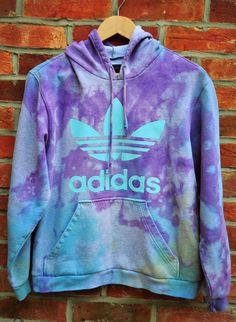 Cryptic Cult - tie dye ADIDAS originals trefoil hoodie