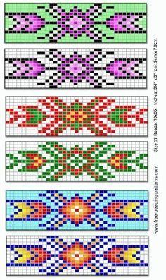 Native american beading patterns barrette for native american beadwork group of by jana Loom Bracelet Patterns, Peyote Stitch Patterns, Beading Patterns Free, Bead Loom Bracelets, Bead Loom Patterns, Weaving Patterns, Jewelry Patterns, Beading Ideas, Beaded Bracelets