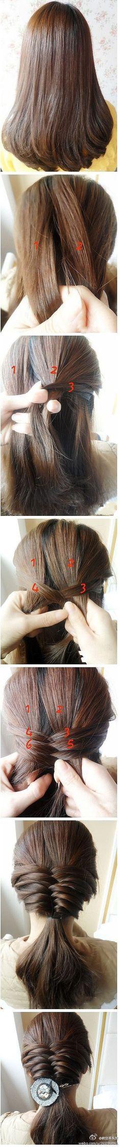 so pretty! simple hair style #braid