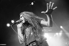 James LaBrie on stage 1992 James Labrie, Dream Theater, Stage, Concert, Recital, Festivals