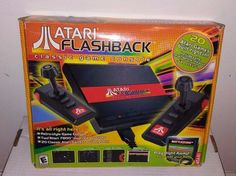 Atari Flashback Launch Edition Black Console 20 Games inc Unreleased Saboteur #Atari