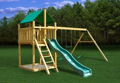 The Discovery fort is 5'x 5'(deck floor) and rests approximately 5 feet off the ground. It's designed for children under the age of 12 and can support over 250lbs!