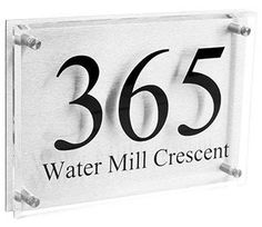 A4 Acrylic Glass Look Designer House Sign
