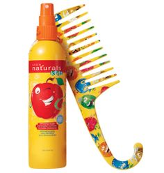 """Tame their tangles! Gentle hair care that kids and adults can use every day! Tear-free formulas are dermatologist tested. Ages 3 and up. Great on natural hair. Duo include: Amazing Apple Detangling Spray 8.4 fl. oz. A $5 value. Detangling Comb Wide teeth allow for easy detangling. Plastic with fishtail hook, 8 3/4"""" L x 2 3/8"""" W. A $5 value."""