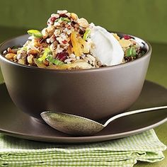Mixed-Brown-Rice Pilaf With Nuts and Dried Fruit Recipe | Reader's ...