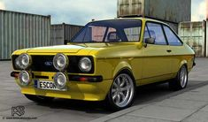 Escort Mk1, Ford Escort, 70s Cars, Retro Cars, Ford Rs, Ford Classic Cars, Old Fords, Rally Car, Old Skool