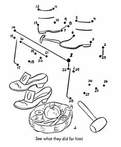 Dot-to-Dot Nursery Rhyme Page | Elves and the Shoemaker