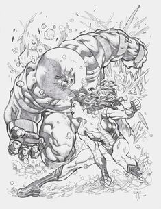 This is an awesome pic but I hate when an artist draws Hulk, Thing or Juggernaut too big.