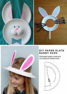 Easter Bunny from Small Paper Plates #easterbunny