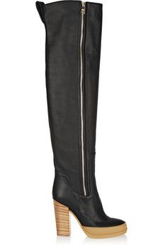 Chloé Textured-leather over-the-knee boots | THE OUTNET