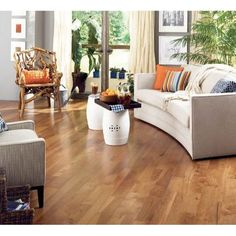 Somerset Character Plank 3 1 4 Solid Hickory Saddle Flooring
