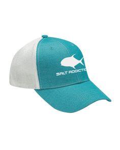 f3d922b6afd99 Details about Salt Addiction Brand saltwater fishing boating beach hat  Ocean mesh cap
