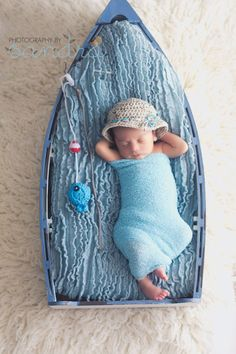 Crochet Baby Boy Fisherman Set Custom Made by StephaniesPropShop, $25.00
