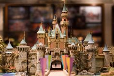 This Disney wallpaper shows the model of the Sleeping Beauty Castle at the Disneyland Resort.