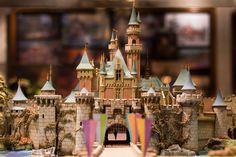 miniature disneyland castle.