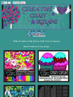 Ad:50% Off Sale,Scrapkits,& CU Products by Creative Crazy Scraps! http://mad.ly/c91c63