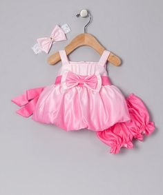 too bad babies don't have many formal events to go to.. Take a look at this Pink Ombré Bubble Dress & Bloomers - Infant by Good Girl on #zulily today!