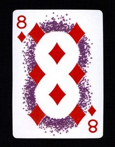 """Day 8/30 Playing Card Art """"Negative Space"""""""