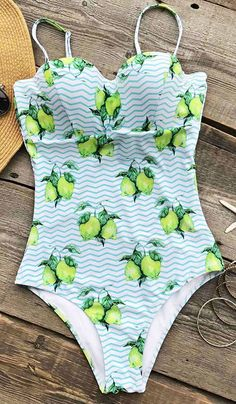 13ebe25577 Cupshe Fresh Like Lemon One-piece Swimsuit will always get you in the mood  for
