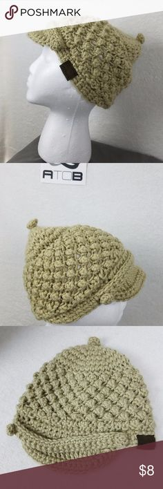 Lined Chaos Missy Visor Beanie Beige Wheat Chaos Missy Visor Beanie Beige Wheat 100% Acrylic Knit Winter Cold Weather Hat Chaos Accessories Hats