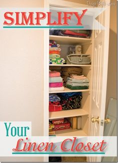 Tips to Simplify and Organize Your Linen Closet