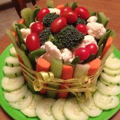 Vegetable birthday cake (for those strict dieters or lovers o'veggies)