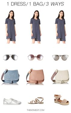 one dress / one bag outfit formula