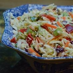 California Cole Slaw  - Tried it once.  To die for.  Making it again and again and again.