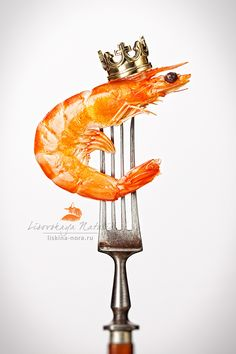 Royal Shrimp by Natalia Lisovskaya Raw Photography, Food Photography Styling, Food Advertising, Creative Advertising, Food Poster Design, Food Design, Collage Illustration, Food Illustrations, Shrimp Festival