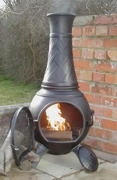 Buy The Basketweave Cast Iron Chiminea Online From The Largest Range Of  Cast Iron Chimineas UK.