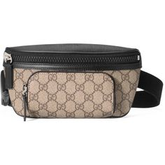 Gg Supreme Canvas Belt Bag, Finished With Black Leather Details And Rubberized Hardware.; Beige/Ebony Gg Supreme Canvas, A Material With Low Environmental Impa…