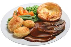 Authentic Scottish Food Recipe - roast beef and yorkshire pudding.