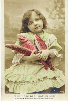 April Fool's Day is also Joyeux Poisson d'Avril. Who knew? 20th Century French sent fish cards to their loved ones, as fish symbolised love and friendship.
