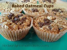 Baked Oatmeal Cups Recipe: http://heavenlyhomemakers.com/baked-oatmeal-cups-birds-nests