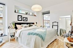 Imagen de bed, interior design, and bedroom