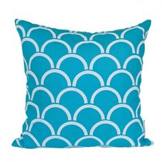 Arches cushion cover - White ink on Aqua - love that this is hand printed too
