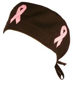 c1cd8e1d75a Pink Ribbon Breast Cancer Awareness Surgical Scrub Cap Hat - USA Made Scrub  Caps