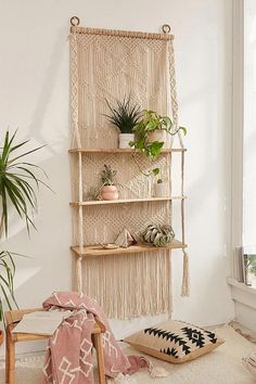 Dekoration Wohnung – Urban Outfitters Macramé Hanging Shelf Bohemian living room home decor. Urban Outfitters Macramé Hanging Shelf Bohemian living room home decor. Source by nilferlke Rooms Home Decor, Diy Home Decor, Bedroom Decor, Bedroom Ideas, Bedroom Green, Bedroom Wall, Crochet Home Decor, Decor Room, Home Decor Items