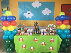 Fiesta Mario Bros, decoración