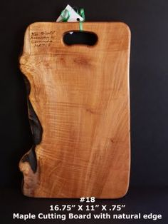 Image detail for -2318+Maple+Cutting+Board+with+live+edge.jpg